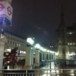 Charing Cross in the rain