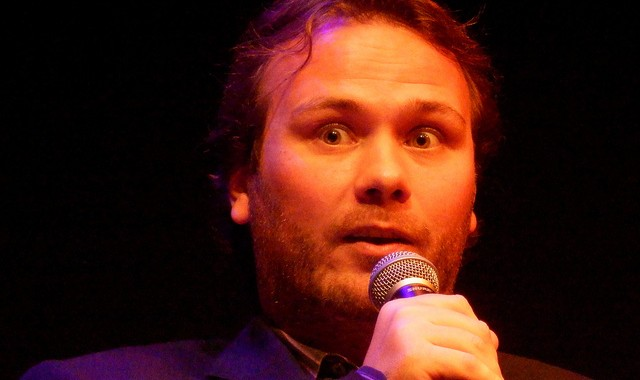 John Finnemore at the Storytellers' Club