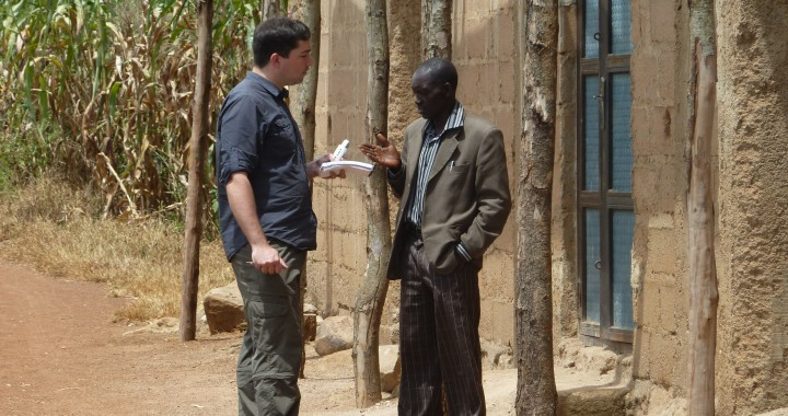 Interviewing a church leader in Nigeria