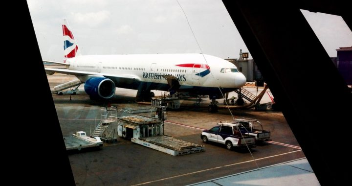 British Airways plane at Bangkok airport